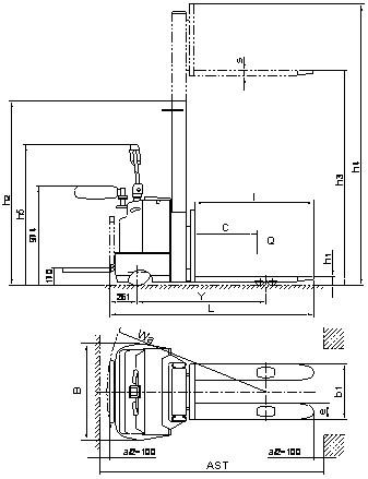单油缸全电动堆高车 - 浙江升降台|浙江液压升降台|货