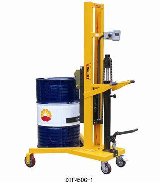 称重式脚踏液压油桶车